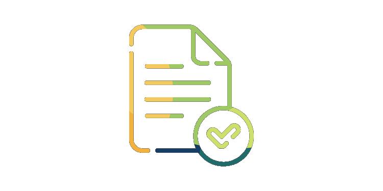 Stylized document icon with checkbox