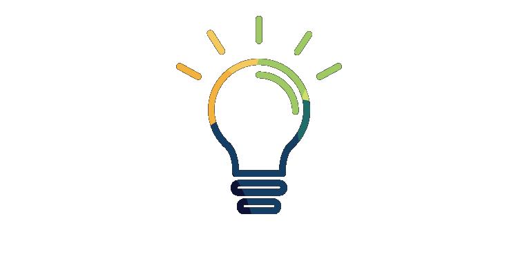 Stylized light bulb icon
