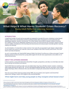 PDF Cover Page of What Helps What Harms Students' Crisis Recovery?